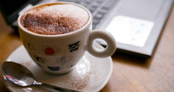 coffee and computer image